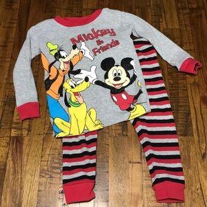 24M/2T Mickey pajamas set
